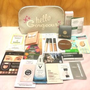 Other - Makeup + skincare sample lot with Benefit bag